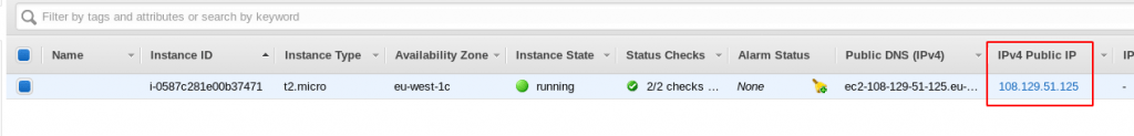 AWS Static IP