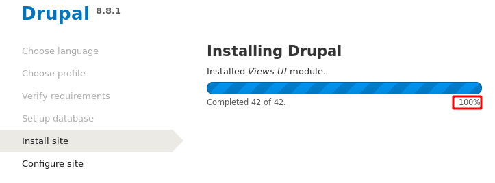 Drupal install Apache