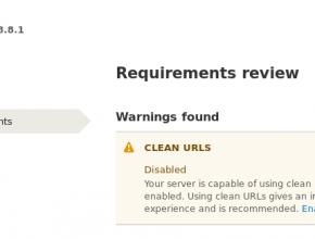 Drupal Clean url