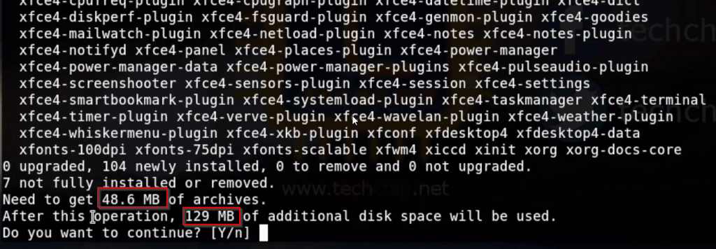 Install (XFCE) Services in Kali
