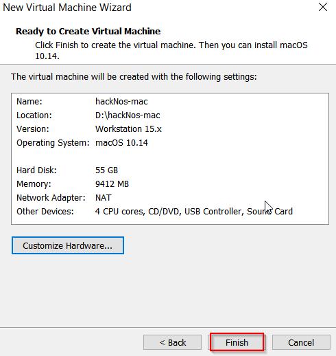 macOS install VMware