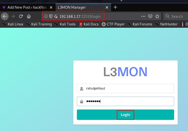 L3MON Install Kali Linux