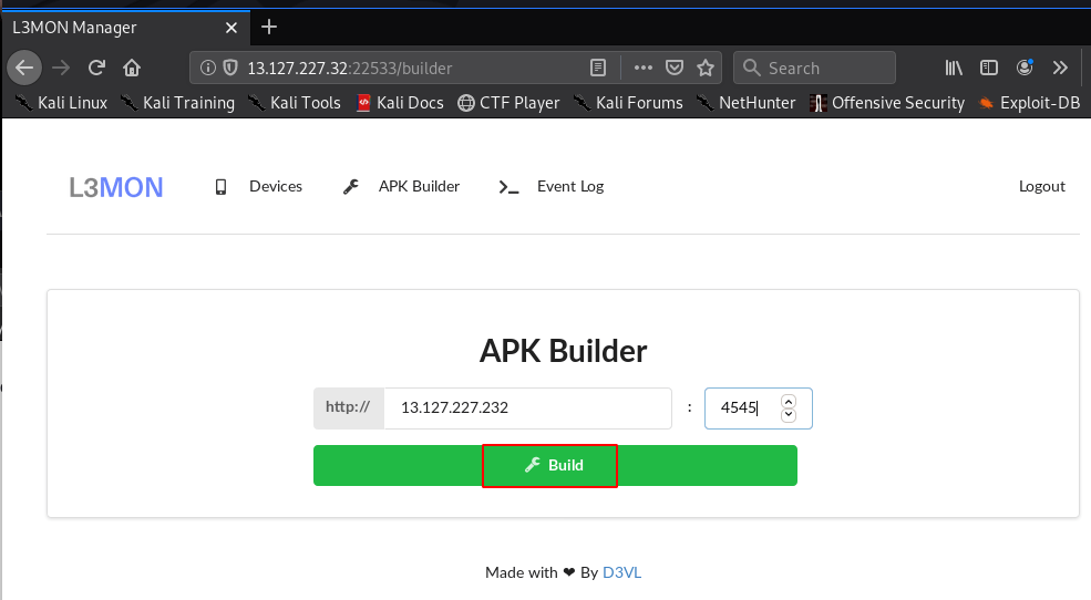 L3MON Payload Build Failed