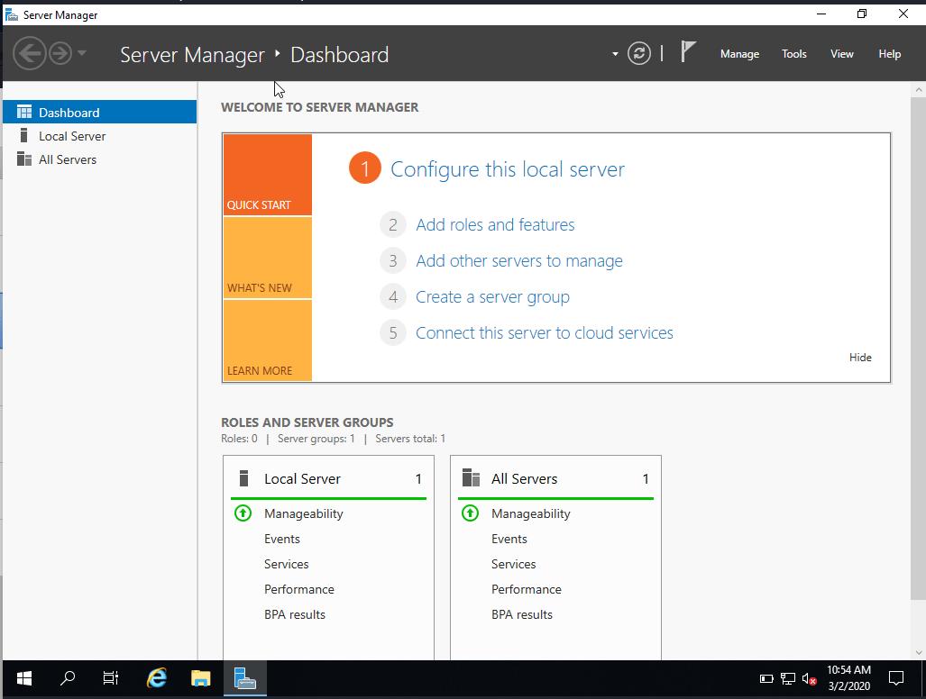 windows server 2019 installation