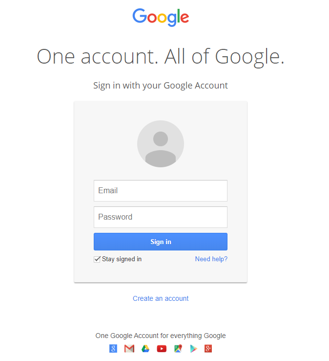 Gmail Phishing Page