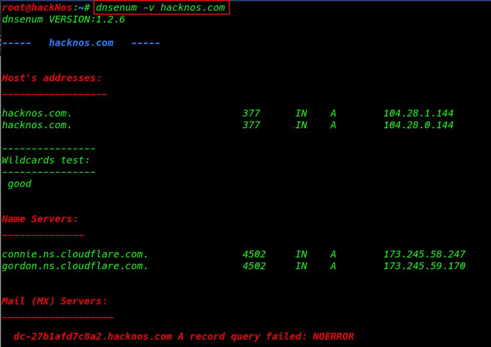 Enumeration Ethical Hacking | Dnsenum - DNS Enumeration Tool