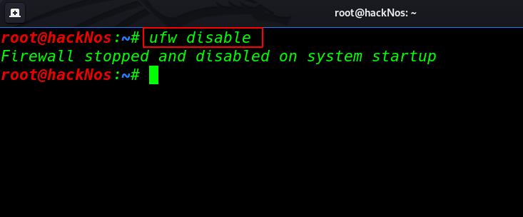 turn off firewall Kali Linux
