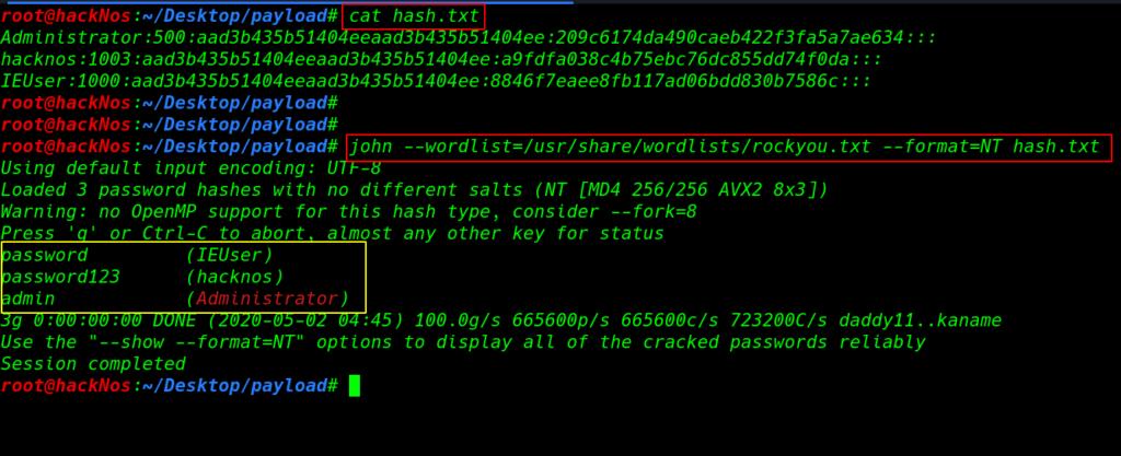 Window hash Cracking | windows password cracking