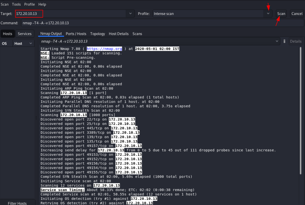 Scanning Network Advanced IP Scanner