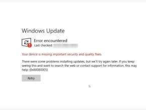 windows update error 0x80080005 | update error 0x80080005 | error 0x80080005 | error code 0x80080005