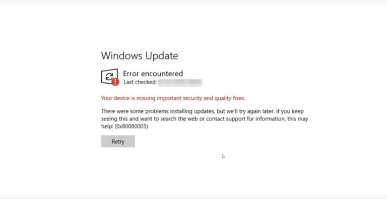 windows update error 0x80080005   update error 0x80080005   error 0x80080005   error code 0x80080005
