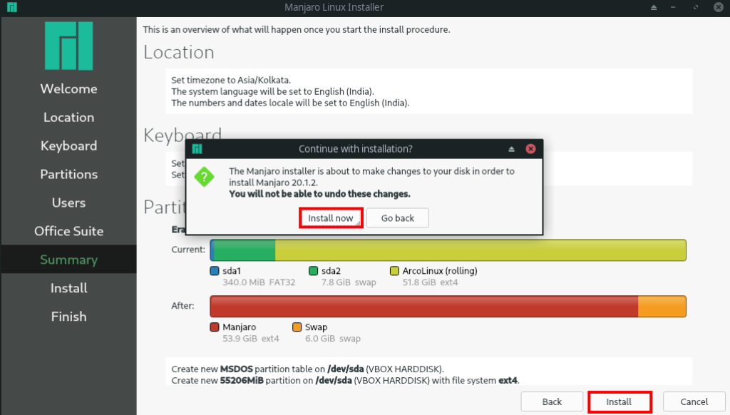Manjaro Linux Installation