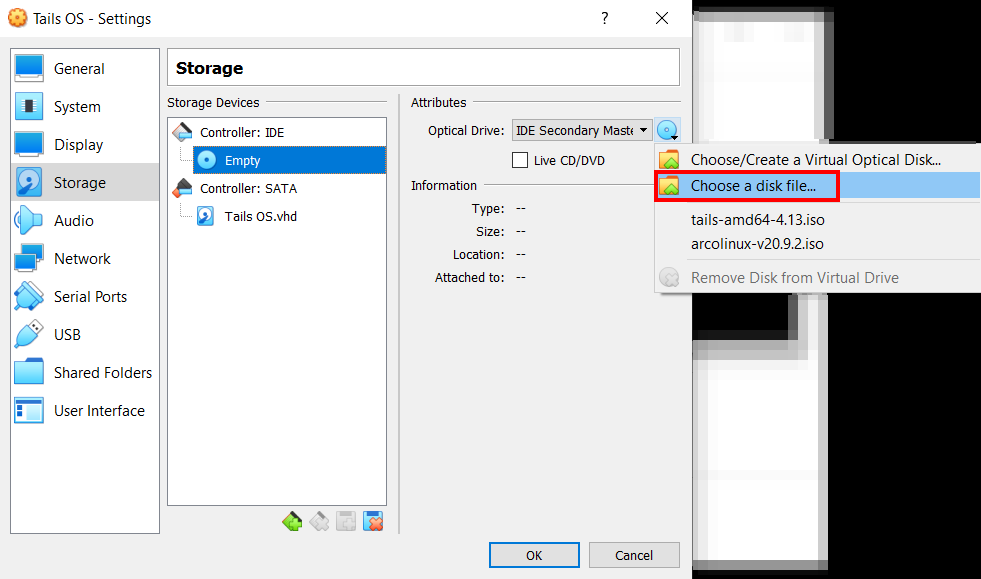 Tails OS Setup On VirtualBox
