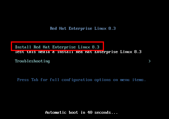 Red Hat Server Installation VirtualBox Lab Setup