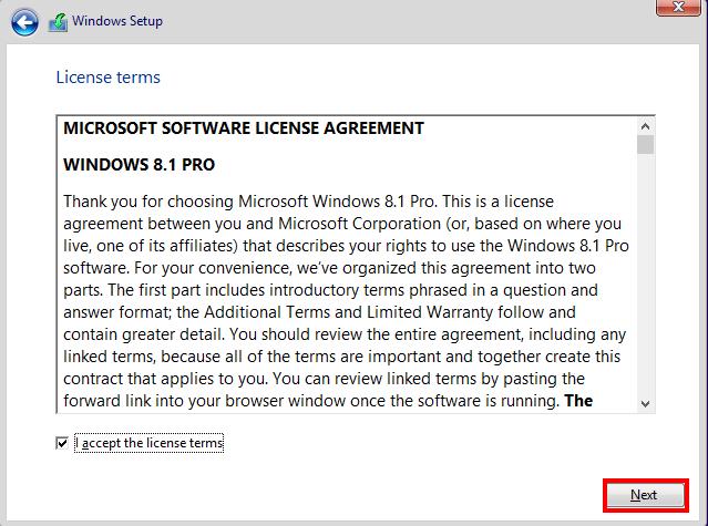 Windows 8 Installation VirtualBox