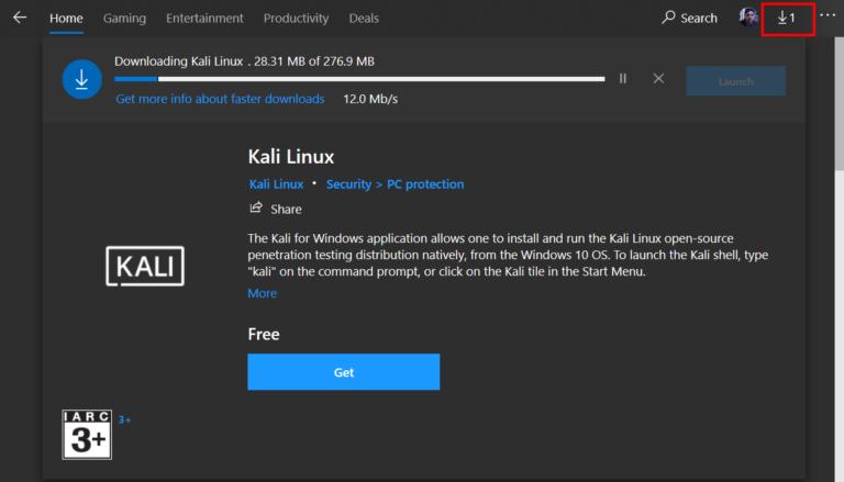 run kali linux as a windows subsystem