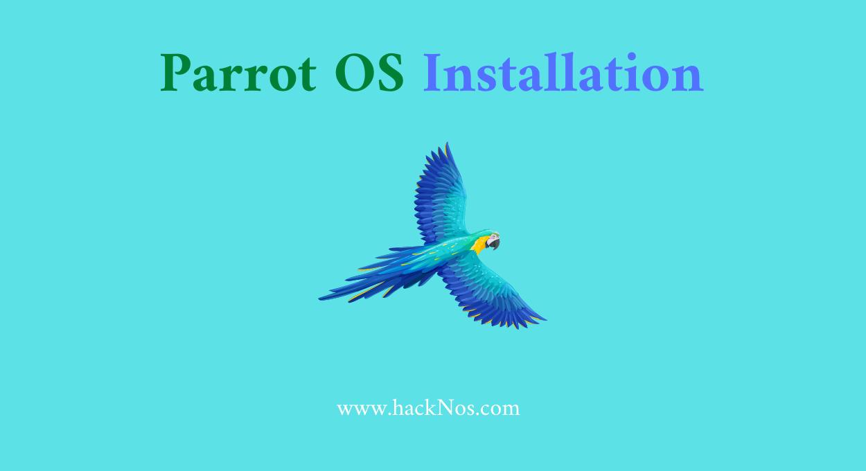 parrot os install on virtualbox