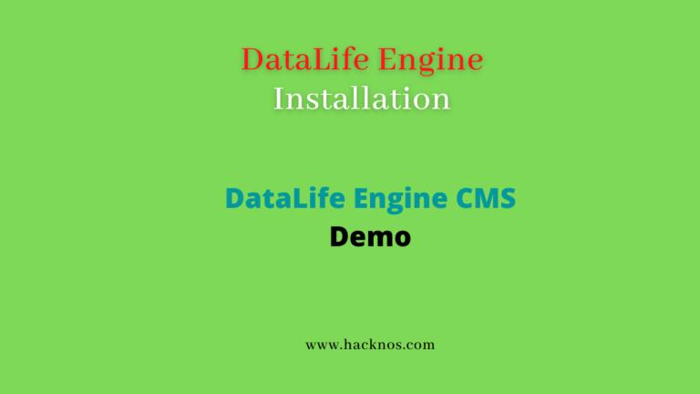 DataLife Engine Installation