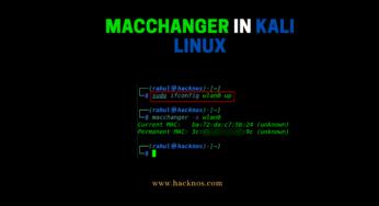 MacChanger in Kali Linux