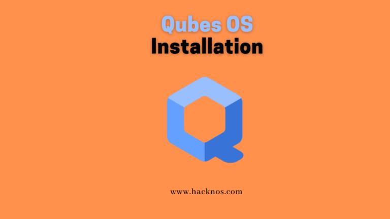 Qubes OS installation
