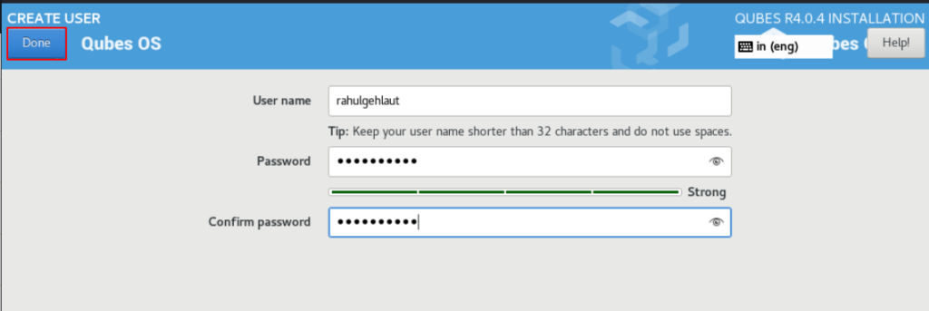 Qubes OS dual boot Installation