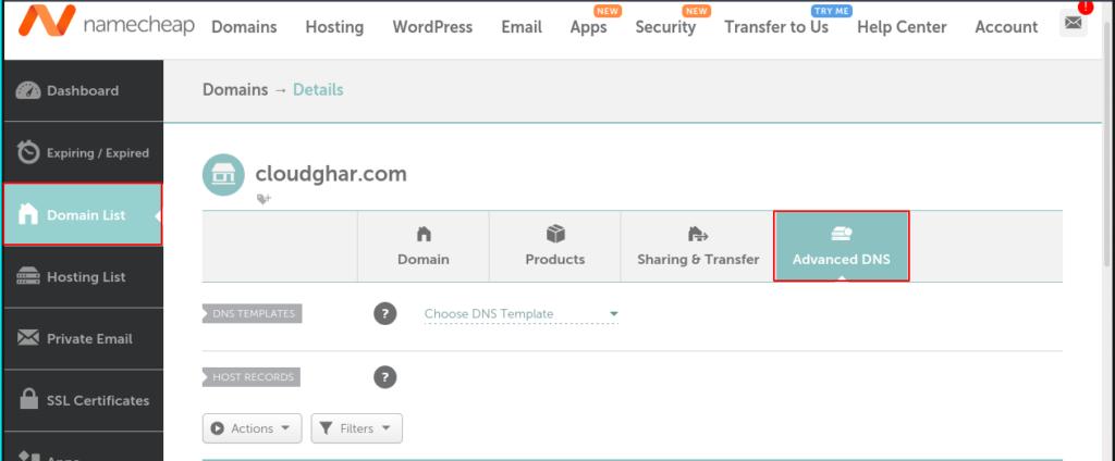 CyberPanel NameServer Configure