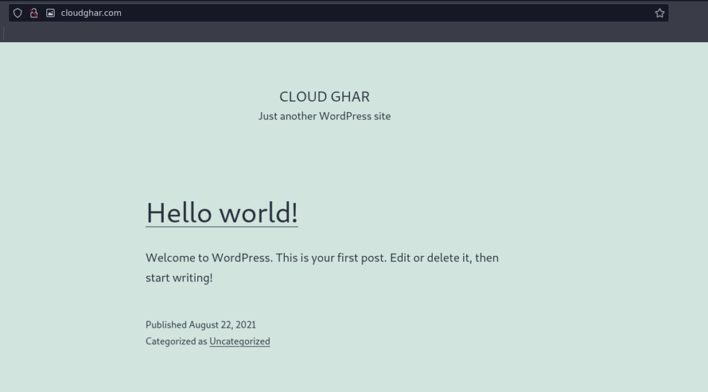 WordPress Install on CyberPanel